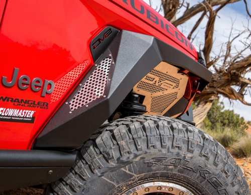 DV8 Offroad FDGL-02 Armor Fenders with Vents & Turn Signals for Jeep Gladiator JT 2020+