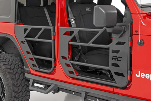 Rough Country 10619 Front & Rear Steel Tube Doors for Jeep Wrangler JL 4 Door & Gladiator JT 2018+