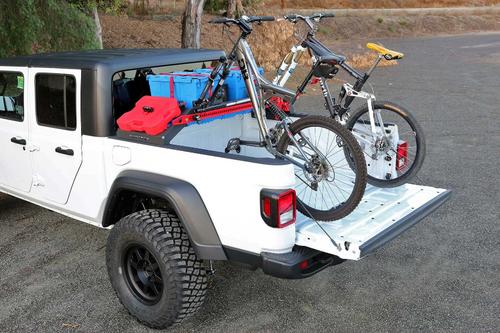 FabTech FTS24263 Cargo Rack Bike Mount for Jeep Gladiator JT 2020+