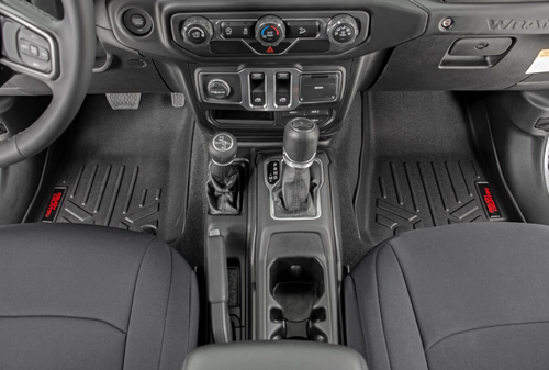 Rough Country M-61501 Front & Rear Floor Mats with Lockable Under Seat Storage for Jeep Gladiator JT 2020+