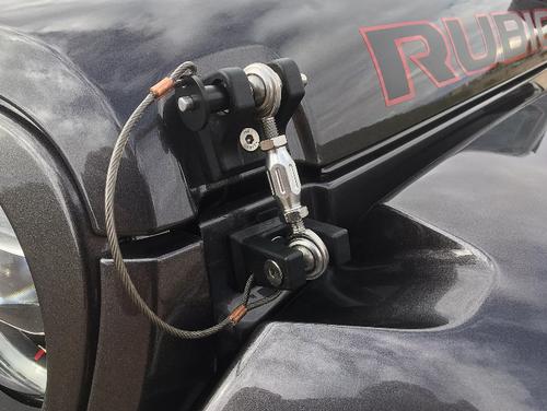 DV8 Offroad D-JL-190001-LK Locking Hood Hold Downs for Jeep Wrangler JL & Gladiator JT 2018+