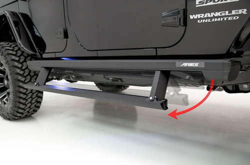 Aries 3036571 ActionTrac Powered Running Boards for Jeep Wrangler JL 4 Door 2018+