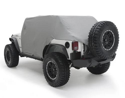 Smittybilt 1069 Cab Cover with Door Flaps in Gray for Jeep Wrangler JK 4 Door 2007-2018