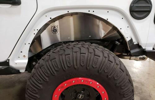 Road Armor 518LFR0Z Stealth Rear Inner Fender Pair for Jeep Wrangler JL 2018+
