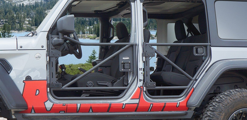 Rancho RS62121B RockGEAR Tubular Front Doors for Jeep Wrangler JL & Gladiator JT 2018+