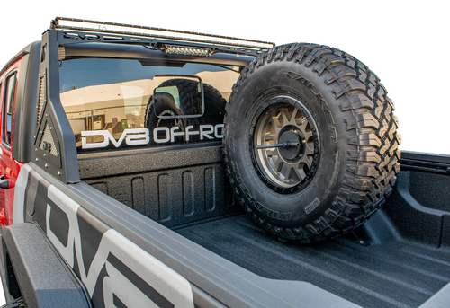 DV8 Offroad TCGL-02 Stand Up In-Bed Tire Carrier for Jeep Gladiator JT 2020+