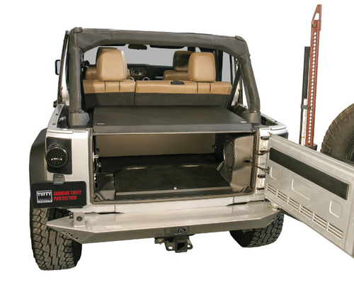 Tuffy Security Products 326-01 Deluxe Security Deck Enclosure for Jeep Wrangler JK 2011-2018