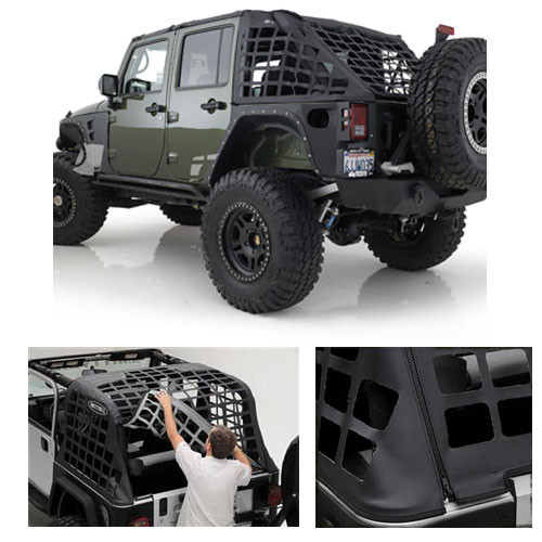 Smittybilt C-RES Cargo System Mounted on Jeep JK 4 Door