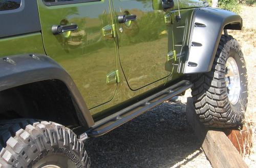 Body Armor 4x4 JK-4121 Rockcrawler Side Steps for Jeep Wrangler JK 4 Door 2007-2018