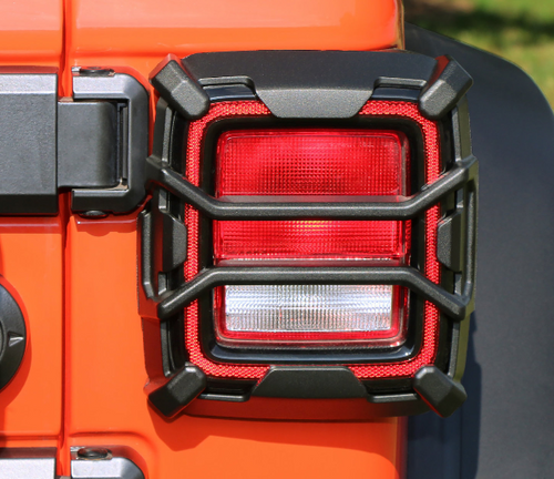 Rugged Ridge 11226.13 Elite Tail Light Guards for Factory Halogen Tail Lights for Jeep Wrangler JL 2018+