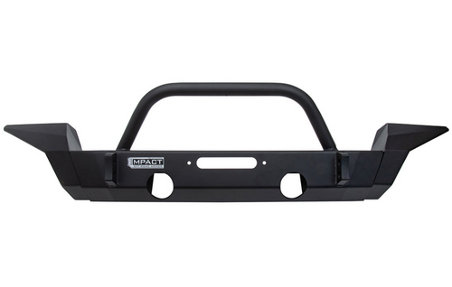 ICON Vehicle Dynamics 25153 Impact Front Bumper End Caps- Full Width for Jeep Wrangler JL & Gladiator JT 2018+