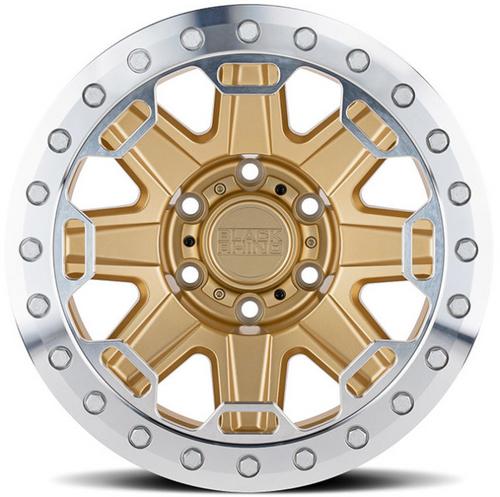 Black Rhino Wheels 1785RFT-85127L Rift Beadlock in Matte Gold 17x8.5 5x5