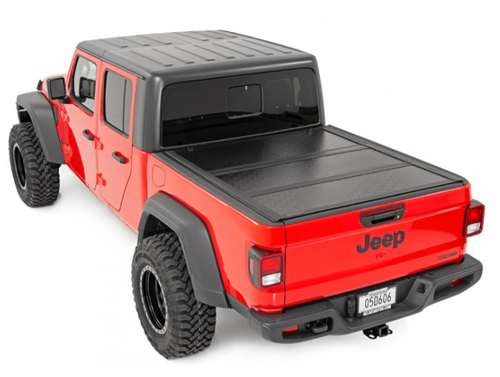 Rough Country 47620500 Low Profile Hard Tri-Fold Tonneau Cover for Jeep Gladiator JT 2020+