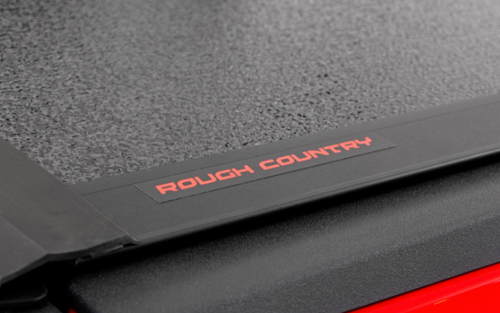 Rough Country 47420500 Low Profile Hard Tri-Fold Tonneau Cover for Toyota Tacoma 2016+