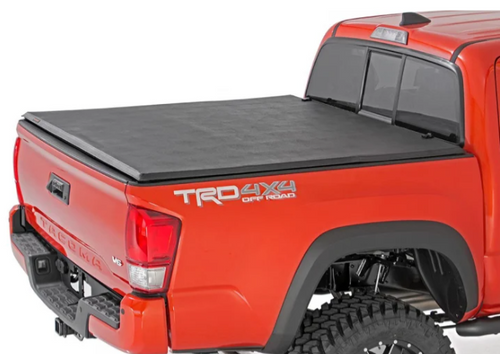 Rough Country 44716501 Soft Tri-Fold Bed Cover for Toyota Tacoma 2016+ with 5' Bed and Cargo Management System