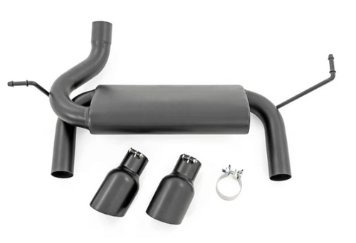 Rough Country 96002A Dual Outlet Performance Exhaust in Black for Jeep Wrangler JK 2007-2018