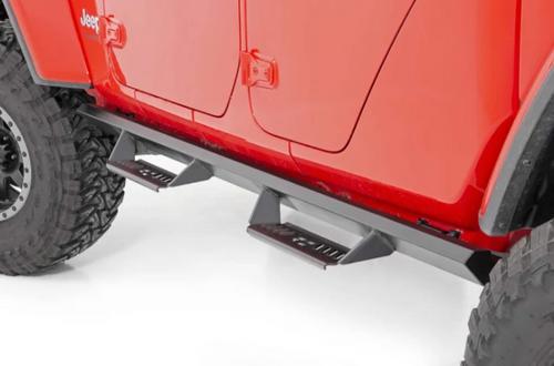 Rough Country AL519204 Cab Length AL2 Drop Steps for Jeep Wrangler JL 4 Door 2018+