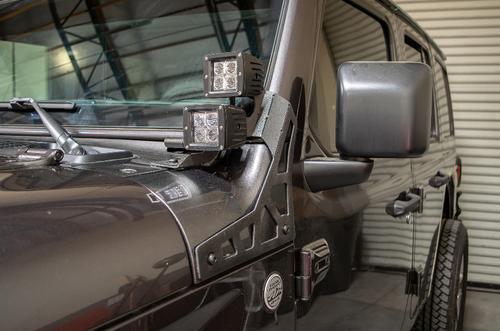 DV8 Offroad LBJL-02 A-Pillar LED Pod Light Mounts for Jeep Wrangler JL & Gladiator JT 2018+