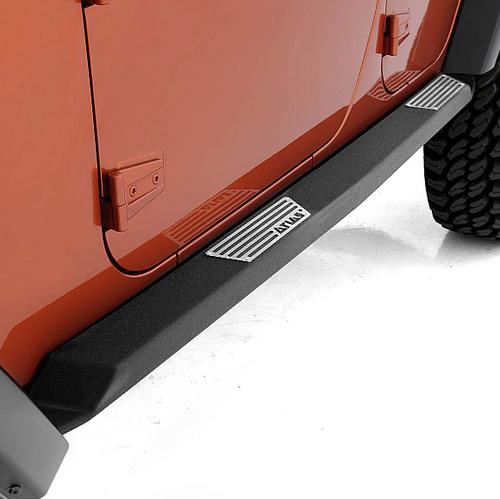 Smittybilt 76898 XRC Atlas Rock Sliders with Step for Jeep Wrangler JK 4 Door 2007-2018