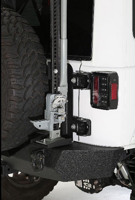 Smittybilt 2844 Trail Jack Mount for HD Pivot Tire Carrier for Jeep Wrangler JK 2007-2018
