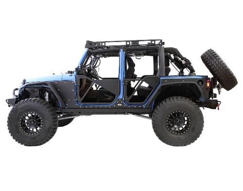 Smittybilt 76857-05 XRC Slant Back Tire Carrier Conversion Kit for Jeep Wrangler JK 2007-2018
