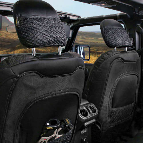 Smittybilt 577101 Gen2 Seat Cover Set in Black for Jeep Wrangler JL 4 Door 2018+