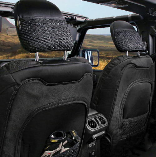 Smittybilt 577122 Gen2 Neoprene Seat Cover Set in Charcoal/Black for Jeep Wrangler JL 4 Door 2018+