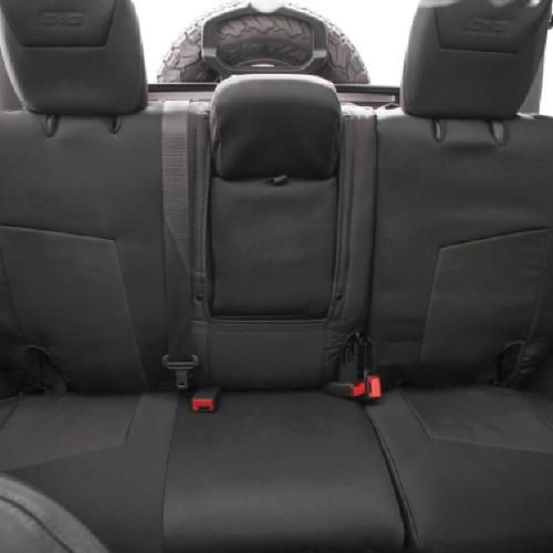 Smittybilt 57746501 Rear G.E.A.R. Gen2 Custom Fit Seat Cover in Black for Jeep Wrangler JL 4 Door 2018+