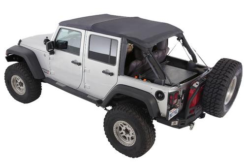 Smittybilt 9083135K Bowless Combo Soft Top for Jeep Wrangler JK 4 Door 2007-2018