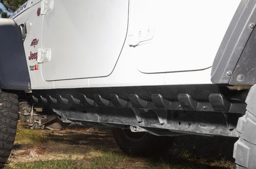 Rugged Ridge 11651.61 Body Armor Rocker Guards in Black for Jeep Wrangler JL 4 Door 2018+