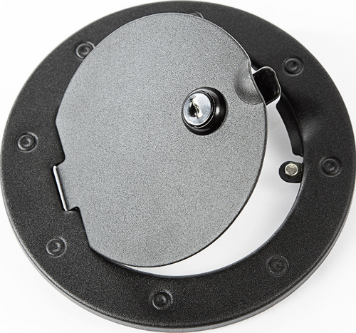 Rugged Ridge 11229.03 Stainless Steel Locking Gas Hatch Cover in Black for Jeep Wrangler JK 2007-2018