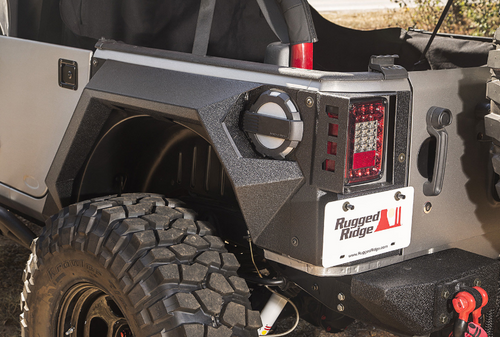 Rugged Ridge 11615.02 Rear XHD Armor Fenders for Jeep Wrangler JK 4 Door 2007-2018