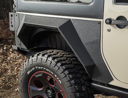 Rugged Ridge 11615.03 XHD Rear Armor Fenders for Jeep Wrangler JK 2 Door 2007-2018