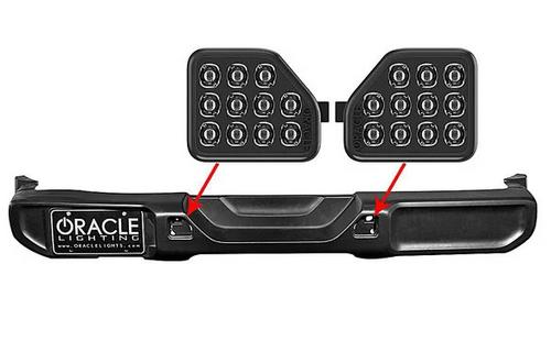 Oracle Lighting 5874-504 Rear Bumper LED Reverse Lights for Jeep Wrangler JL 2018+