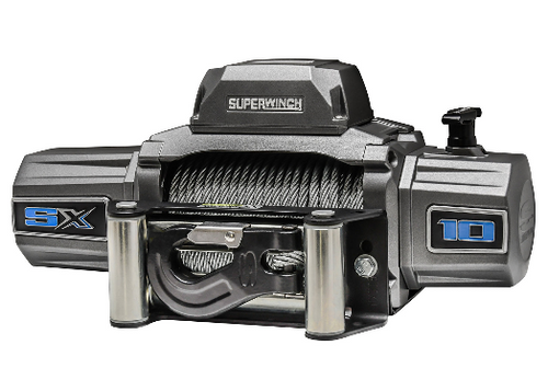 Superwinch 1710200 SX Series 10,000 Steel Cable Winch with Wired Remote