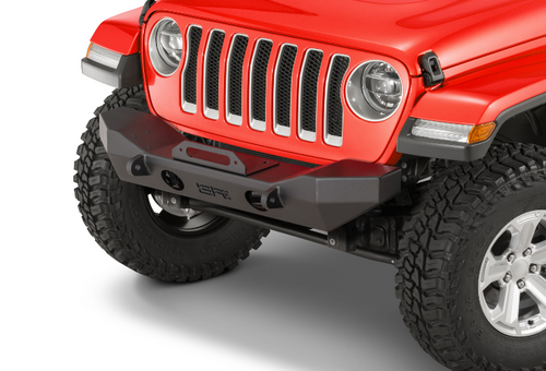 Body Armor JL-19532 Front Mid Width Winch Bumper for Jeep Wrangler JL & Gladiator JT 2018+