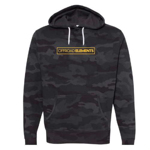 Offroad Elements Black Camo Pullover Hoodie