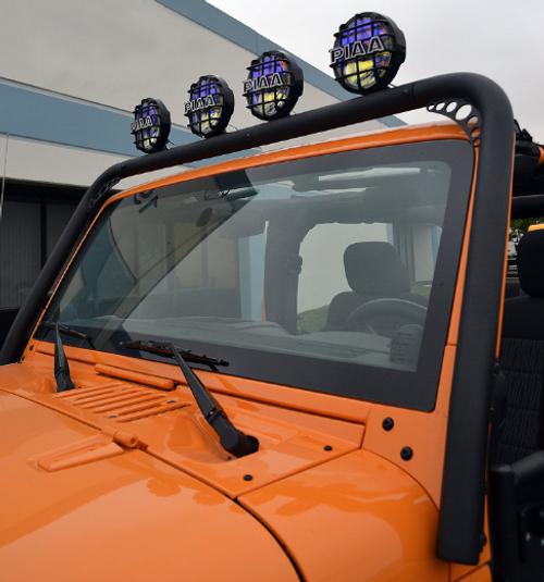 Body Armor JK-6126 Windshield Light Mount for Jeep Wrangler JK 2007-2018