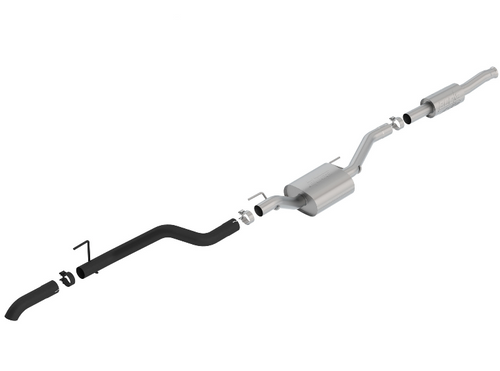 Borla 140810CB ATAK T-304 Stainless Steel Catback Exhaust | Single Turn Down Tip | Black for Jeep Gladiator JT 2020+