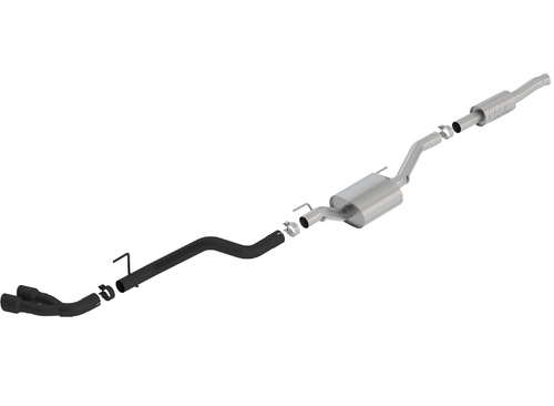 Borla 140813CB ATAK T-304 Stainless Steel Catback Exhaust   Dual Side Exit   Black for Jeep Gladiator JT 2020+