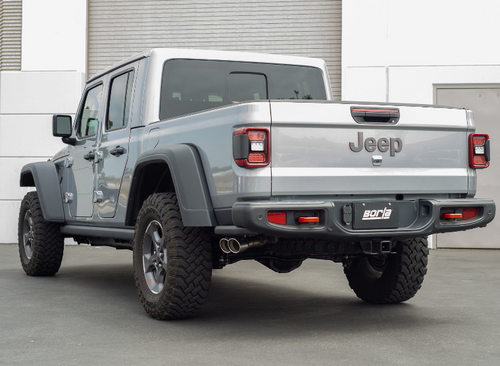 Borla 140813CB ATAK T-304 Stainless Steel Catback Exhaust | Dual Side Exit | Black for Jeep Gladiator JT 2020+