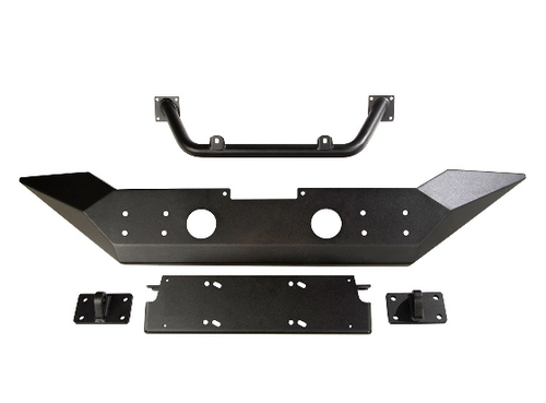 Rugged Ridge 11548.41 Spartan Front Bumper with Overrider for Jeep Wrangler JL & Gladiator JT 2018+