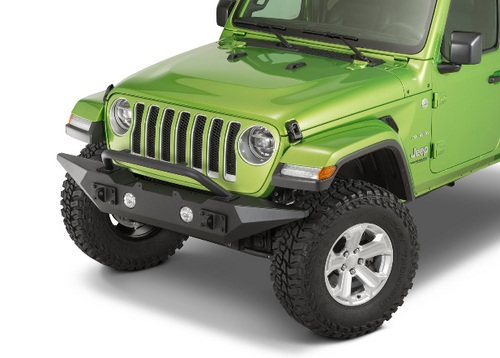 Rugged Ridge 11548.42 Spartan Front Bumper with Overrider Hoop & Standard Ends for Jeep Wrangler JL & Gladiator JT 2018+