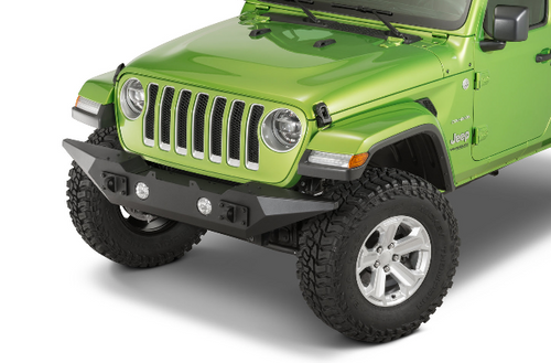 Rugged Ridge 11548.43 Spartan Front Bumper with Standard Ends for Jeep Wrangler JL & Gladiator JT 2018+