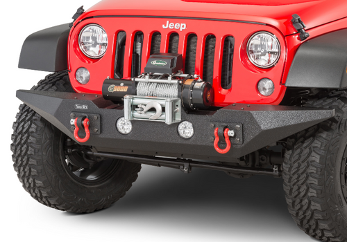 Rugged Ridge 11548.73 Spartan Front Bumper in Satin Black Powder Coat for Jeep Wrangler JK 2007-2018