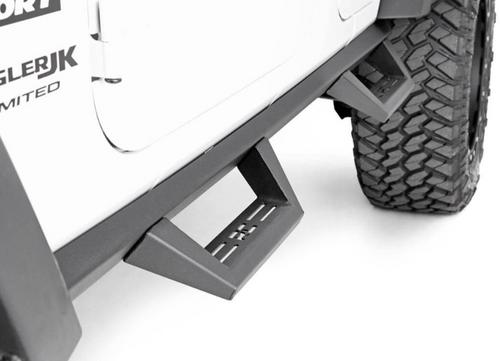 Rough Country 90765B Contoured Drop Steps for Jeep Wrangler JK 4 Door 2007-2018
