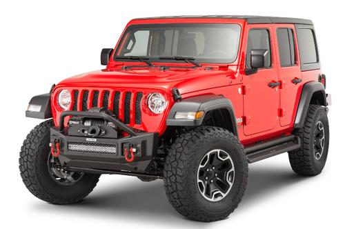Go Rhino 331101T Rockline Front Bumper with Override for Jeep Wrangler JK, JL & Gladiator JT 2007+