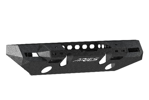 Aries 2082076 TrailChaser Front Bumper with Turn Signal End Caps in Aluminum for Jeep Wrangler JL & Gladiator JT 2018+