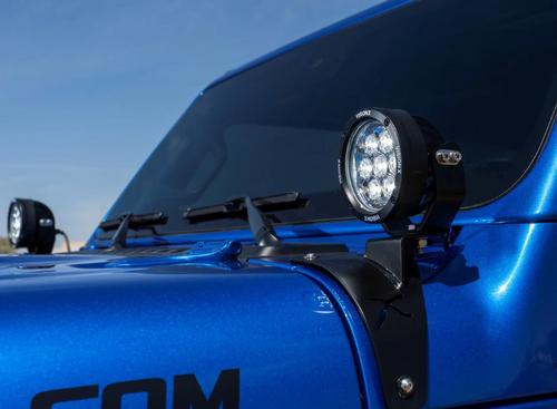 "Vision X 5544185 CG2 4.7"" LED Mini Canon & Light Bracket Kit for Jeep Wrangler JL & Gladiator JT 2018+"