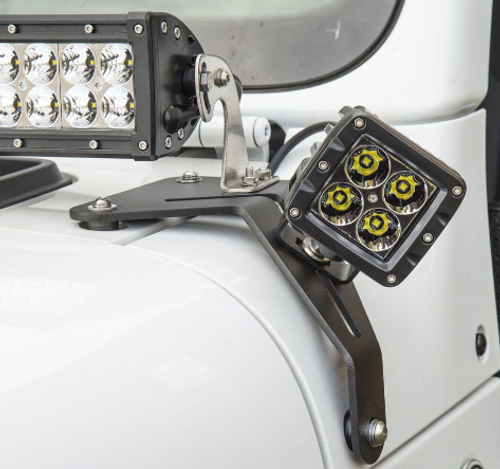 """Aries 1501305 Windshield LED 2"""" Cube Lights with Brackets for Jeep Wrangler JL & Gladiator JT 2018+"""